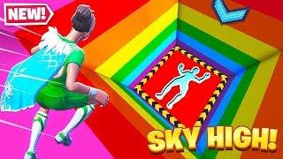 SKY HIGH Rainbow DROPPER in Fortnite Creative!
