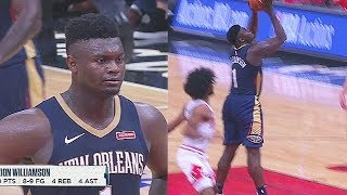 Zion Williamson CRAZY DUNK & Bullies Entire Bulls! Pelicans vs Bulls 2019 NBA Preseason