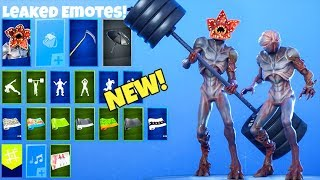 EMOTES fuite avec DEMOGORGON Skin..! (Stranger Things) Fortnite Bataille Royale
