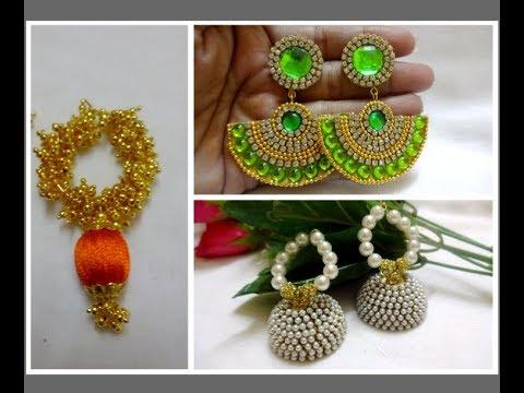 Latest Silk thread Earring collections//Designer Earrings