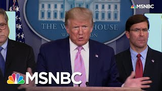 Trump Invents Alaska Example, Ignorant Of Actual Alaska Coronavirus Cases | Rachel Maddow | MSNBC