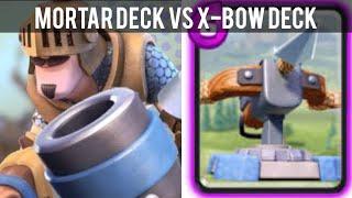 Clash Royale #60 [技巧] Mortar Prince deck vs 3.1 elixir X-bow deck