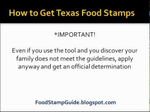 How To Apply For Food Stamps In Texas Youtube