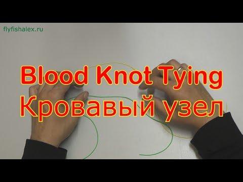 Нахлыстовый узел соединение двух лесок Blood knot tying, как завязать кровавый узел