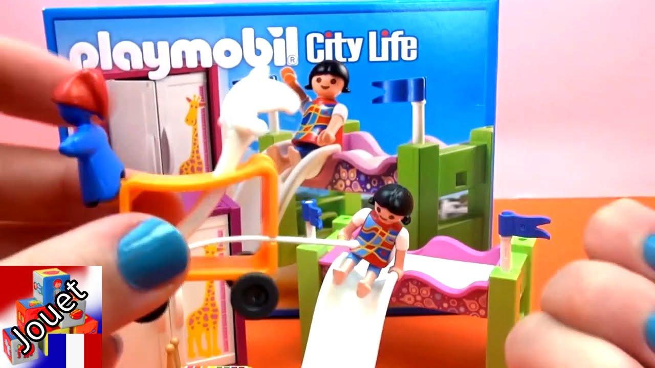 playmobil 5579 chambre coucher denfant avec un lit en hauteur et un toboggan playmobil demo youtube - Playmobil Chambres Princesses