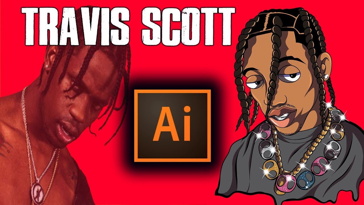 How To Draw Travis Scott As Family Guy Character ( ADOBE ILLUSTRATOR ...