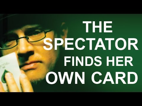 SPECTATOR 'FINDS' THEIR OWN CARD!
