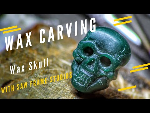 Wax Carving A Skull