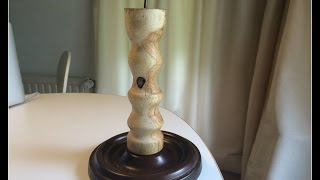 Woodturning - Making a Candle Holder from a Log