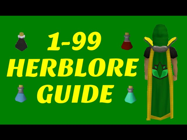 RS3 1 99 Herblore Guide Cheapest And Best Way 2014