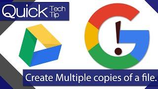 Comment Créer Plusieurs Copies d'un Fichier dans Google Drive