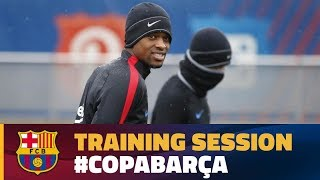 Recovery session after the league game against Espanyol