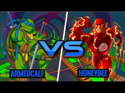 Ninja Turtles vs Flash! ArmedCalf (Leonardo) vs HoneyBee (Flash)