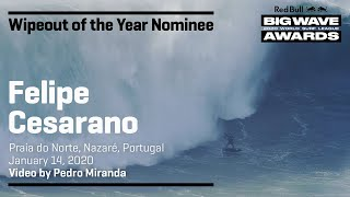 Felipe Cesarano at Nazaré | WIPEOUT OF THE YEAR AWARD NOMINEES - Red Bull Big Wave Awards