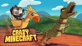 Crazy Minecraft - DINOSAURS CAPTURED IN THE WILD! (Jurassic World Movie)