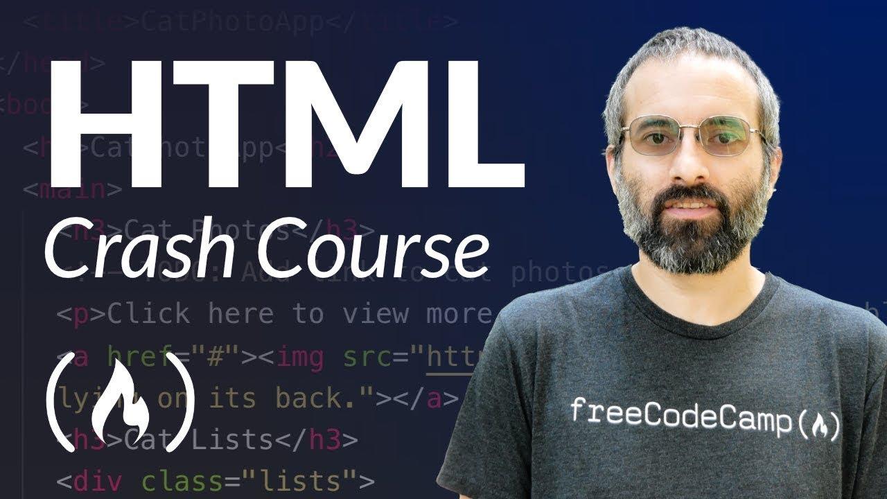 HTML Crash Course for Beginners - Website Tutorial