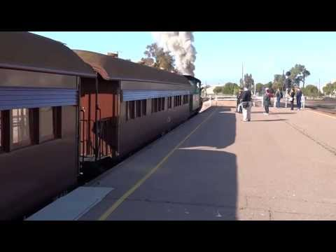Afghan Express - backing into Port Augusta Train Station
