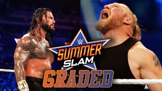 WWE SummerSlam 2021 GRADED Brock Lesnar And Becky Lynch Return Title Changes More