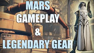 DESTINY - MARS GAMEPLAY & LEGENDARY ARMOR! (Destiny Multiplayer Mars)