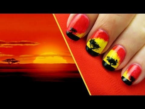 The Lion King Nail Design Tutorial - Disney video - Fanpop