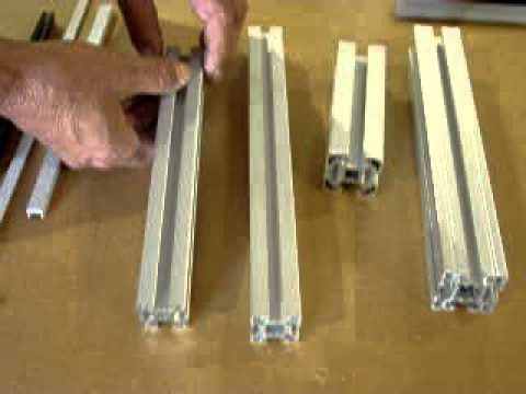 T Slot Aluminum Design Slot Size Youtube