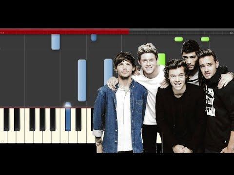 One Direction Home Piano Tutorial Cover Midi hard Sheet partitura Karaoke New