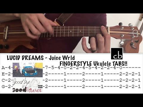LUCID DREAMS (Juice Wrld) FINGERSTYLE Ukulele TUTORIAL