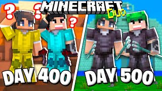 We Survived 500 Days in Minecraft on an Island - Duo Survival and Here's What Happened..