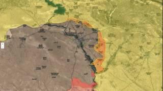 Mosul Operation progress animation
