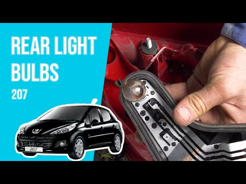 How to replace the rear light bulbs PEUGEOT 207 💡