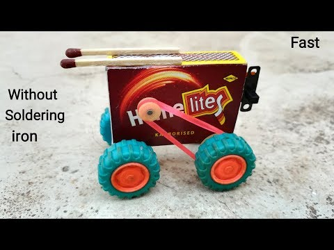 How to make Matchbox CAR without glue gun at home