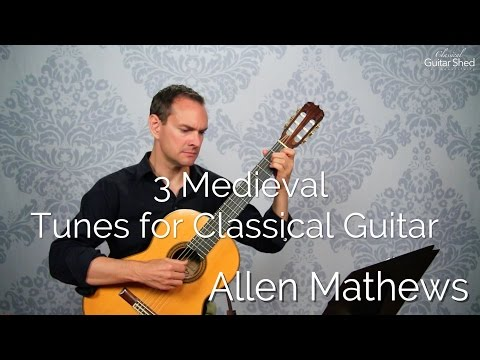 Medieval classical guitar music to learn and play (beginning/upper beginning)