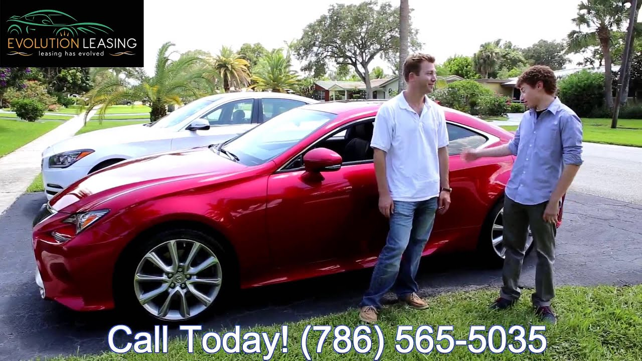 Red Lexus RC350 Delivery Evolution Leasing Lease Lexus Miami