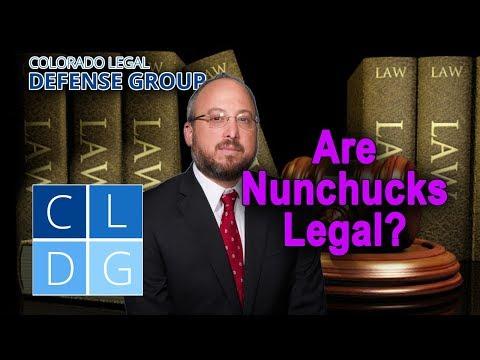 Are nunchucks legal in Colorado?
