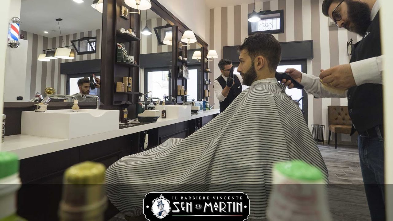 Realizzazione gelsomini barber shop sen martin youtube for Sen martin arredo per barber shop