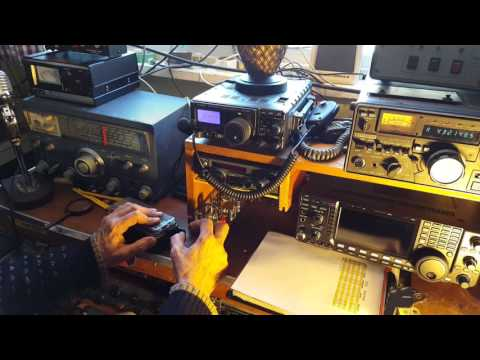 HAM Radio Satellite Communication With Morse Code And Tracking Antennas - Demo By Lee, K1VZI