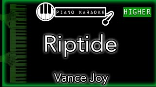 """Piano karaoke for """"riptide"""" by vance joy (3 semitones higher)you can now say thank you and buy me a coffee! ☕️it will allow to keep bringing the best ..."""