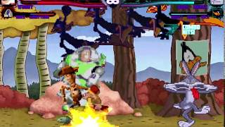 Mugen Request Woody and Buzz Lightyear (Toy Story) vs Bugs Bunny and Daffy Duck