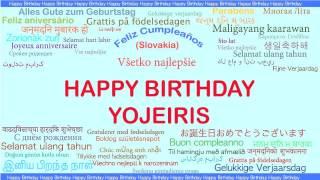 Yojeiris   Languages Idiomas - Happy Birthday