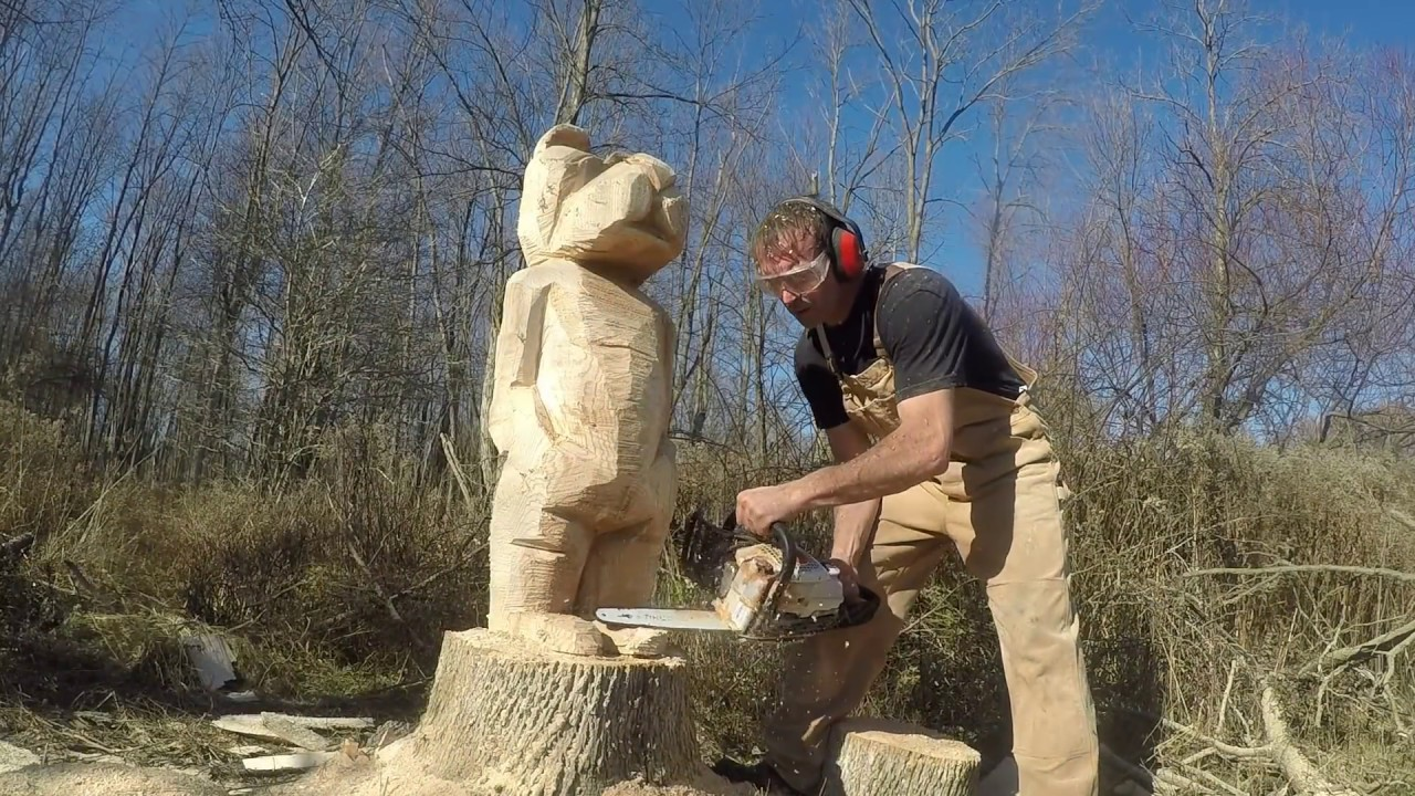 Chainsaw carving bears youtube