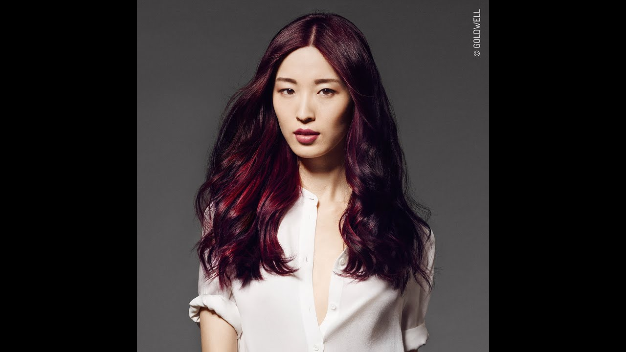 goldwell red service collection deep violet - Coloration Violine Soie