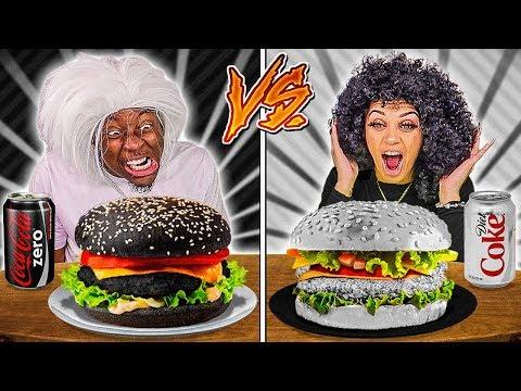black-food-vs-white-food-challenge