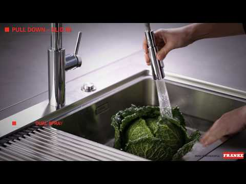 Franke Taps Pescara Pull Down Slide-In and Up&Down - Benefits - English