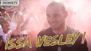 Wesley Sneijder, son arrivée à Nice