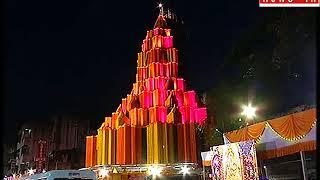 श्रीमंत दगडुशेठ हलवाई गणपती मंदिराला अंगारकी चतुर्थी निमित्त भव्य आरास