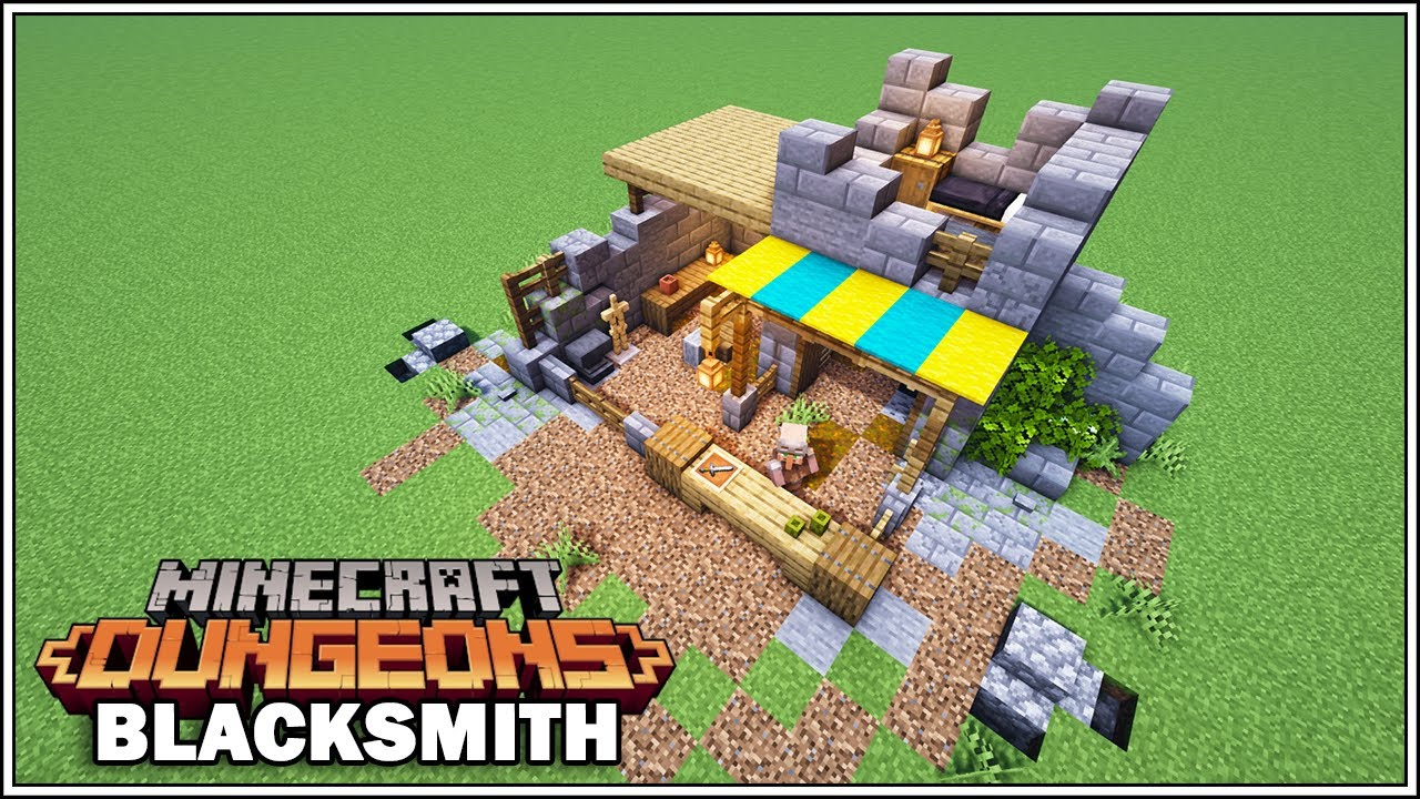 How to Build the Blacksmith in Minecraft Dungeons!!! [Minecraft Tutorial]