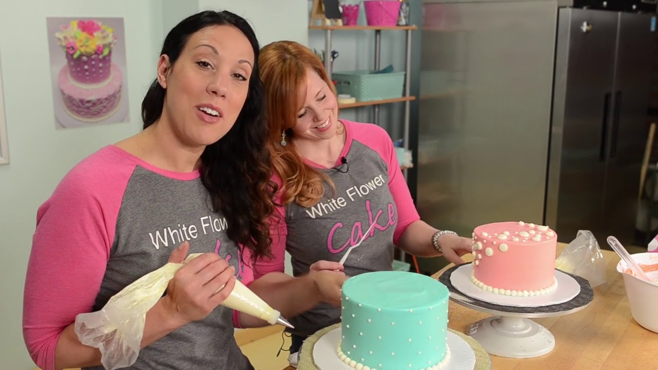Buttercream polka dots white flower cake shoppe youtube buttercream polka dots white flower cake shoppe mightylinksfo