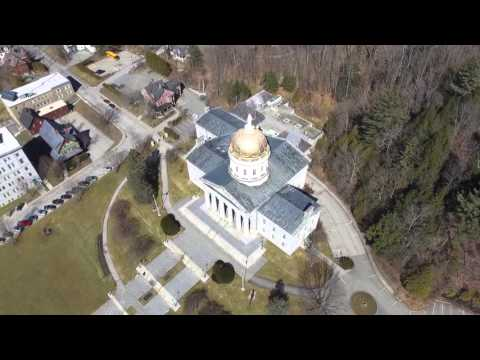 A Drone Flight over the Capital - Montpelier VT