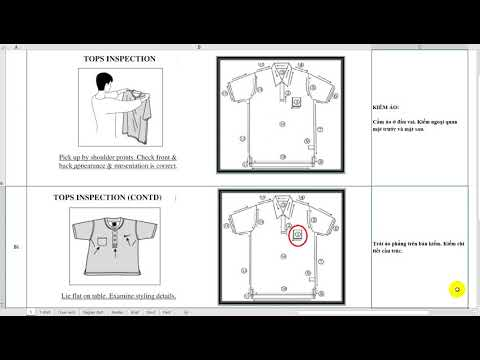 Clockwise garment inspeciton HƯỚNG DẪN KIỂM ÁO THEO CHIỀU KIM ĐỒNG HỒ