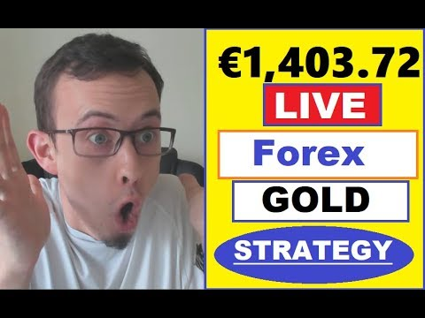 €1403.72 PROFIT LIVE TRADING (GOLD trading strategy for Beginners)